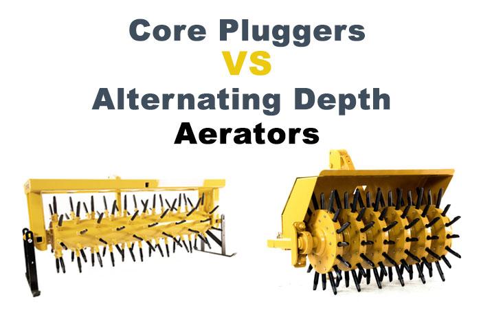 Landscape Rake Vs Box Blade : Core plugger vs alternating depth aerator everything tractors