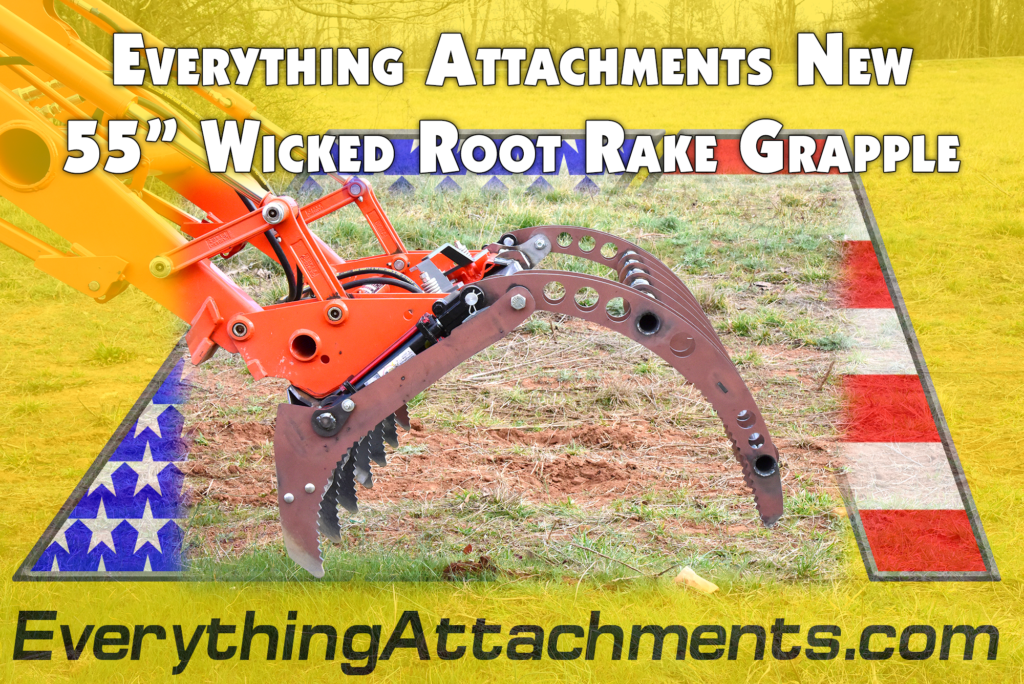 New 55 Inch Root Rake Grapple